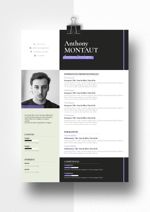 anthony modele cv