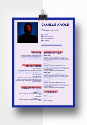 camille modele cv