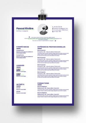 pascal modele cv