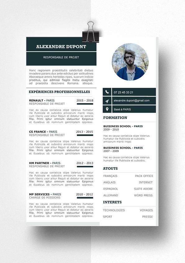 alexandre modele cv