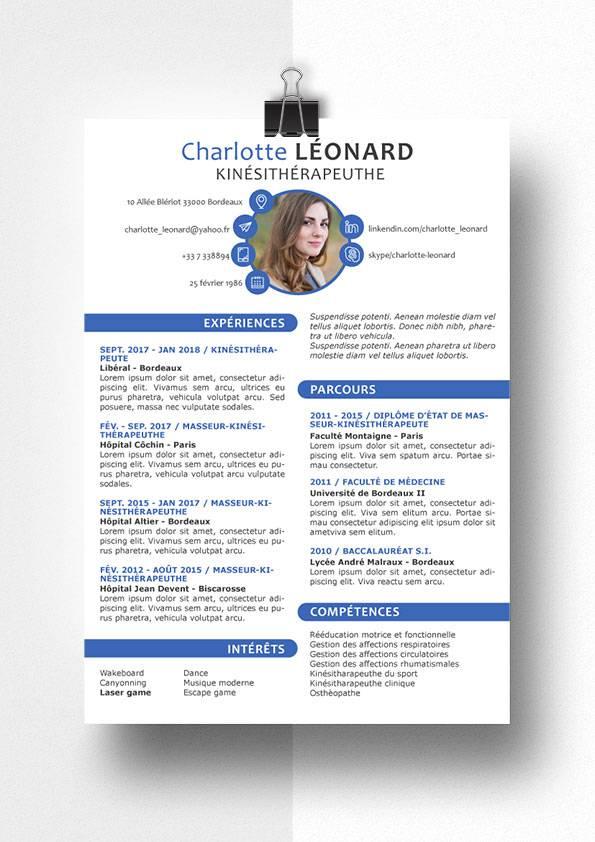 charlotte modele cv