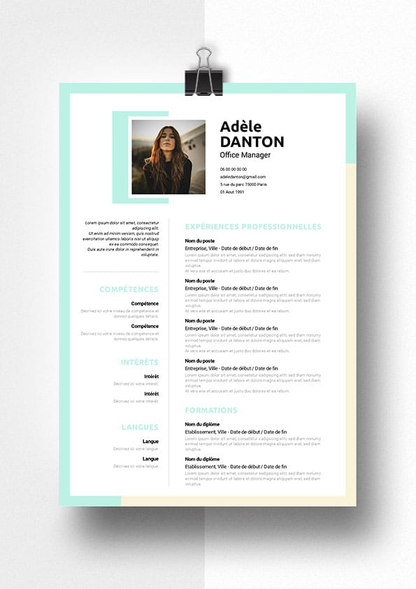 exemple cv office manager