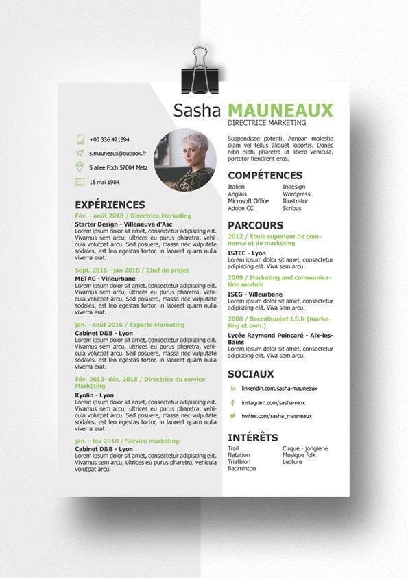 sasha marketing modele cv