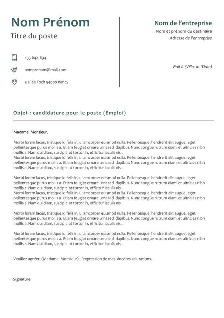 lettre de motivation minimale 3
